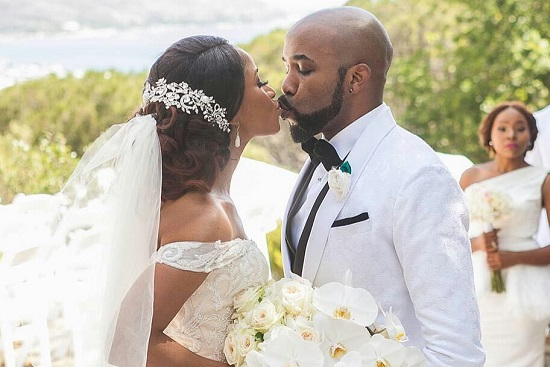 Pictures: Banky W and Adesua Etomi's White Wedding! #BAAD2017