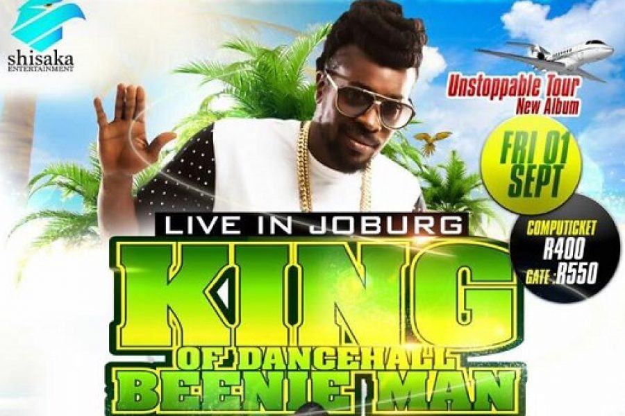 Jamaican Artist Beenie Man Heads to South Africa For His Unstoppable Tour.