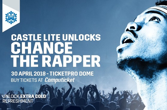 Castle Lite Unlocks Chance The Rapper for Johannesburg! #CastleLiteUnlocks