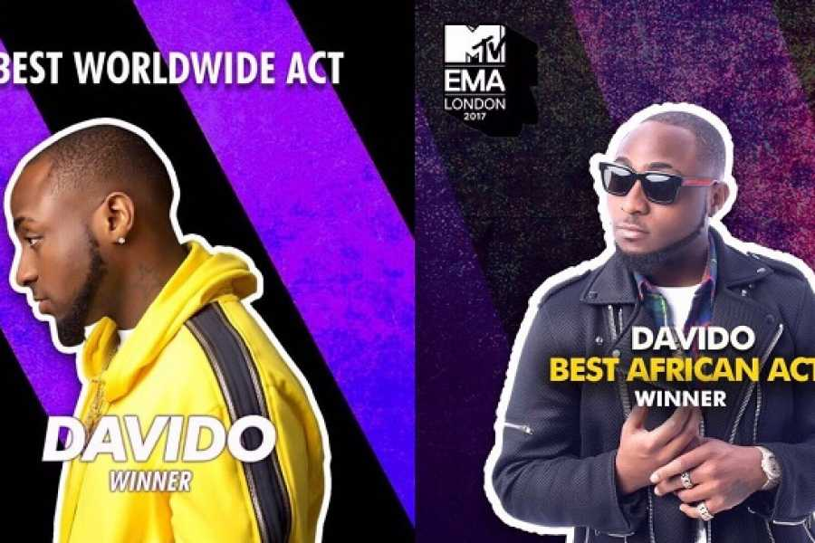 Nigeria's Davido Wins 2 Awards at the MTV Europe Music Awards! #MTVEMA