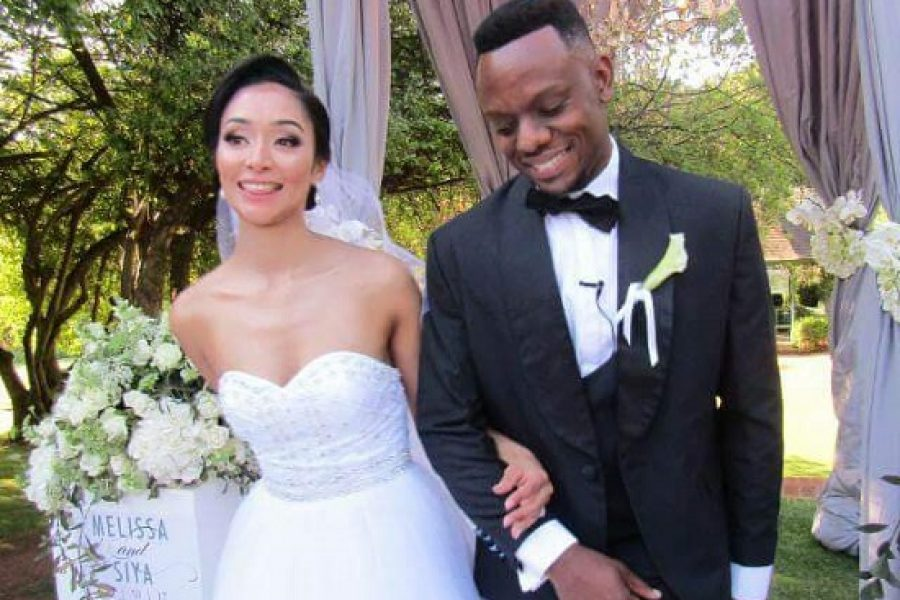 PICTURES: Slikour Metane and Melissa Wilkinson's White Wedding!